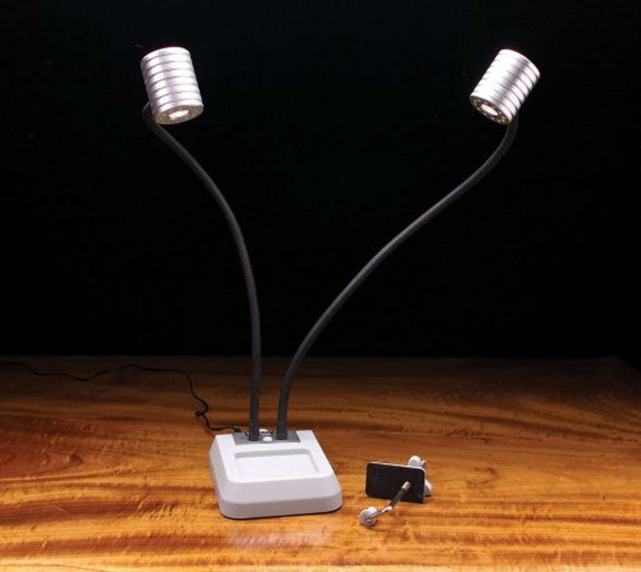 ドリル敬礼フィドルPro Lite Dual Head Led Fly Tying Light by Hareline