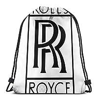 Rolls-Royce 3 ジムサック スポーツバッグ ビーチバッグ リュックサック 巾着 男女兼用 軽量 カジュアル ファッション 登山 旅行用収納 遠足 スポーツバッグ バッグ シューズ ケース 巾着袋 折り畳み バッグ収納袋 バックパック 幻想 ジムバッグ 学校のバッグになります
