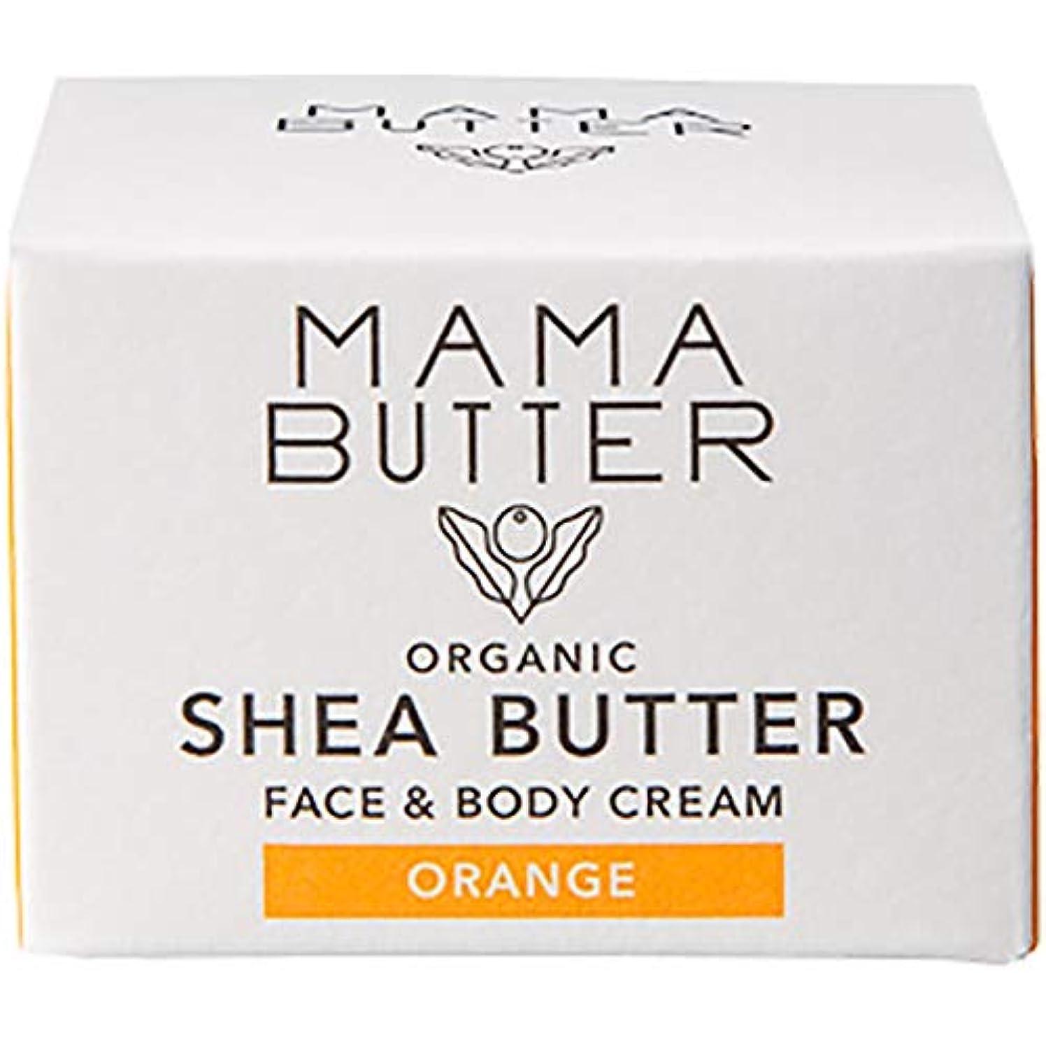 縁石平均流出MAMA BUTTER(ママバター) フェイス&ボディクリーム25g オレンジ