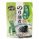 西嶋海苔 天然だし減塩のり佃煮青のり入り 6g×10袋×9個   JAN:4904412100043