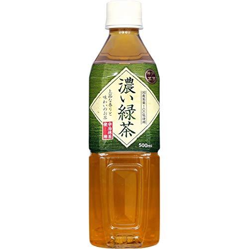 富永貿易 神戸茶房 濃い緑茶 500ml ×24本