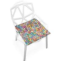 座布団 低反発 花 多彩 華やか ビロード 椅子用 オフィス 車 洗える 40x40 かわいい おしゃれ ファスナー ふわふわ fohoo 学校