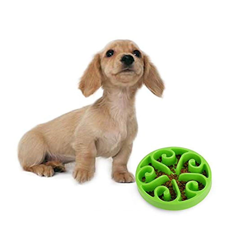 TJW ペット お皿 犬 猫 食器 ペット 給餌器 犬用 早食い/肥満防止 餌入れ 猫用食器 ゆっくり食べる 食器 (グーリン)