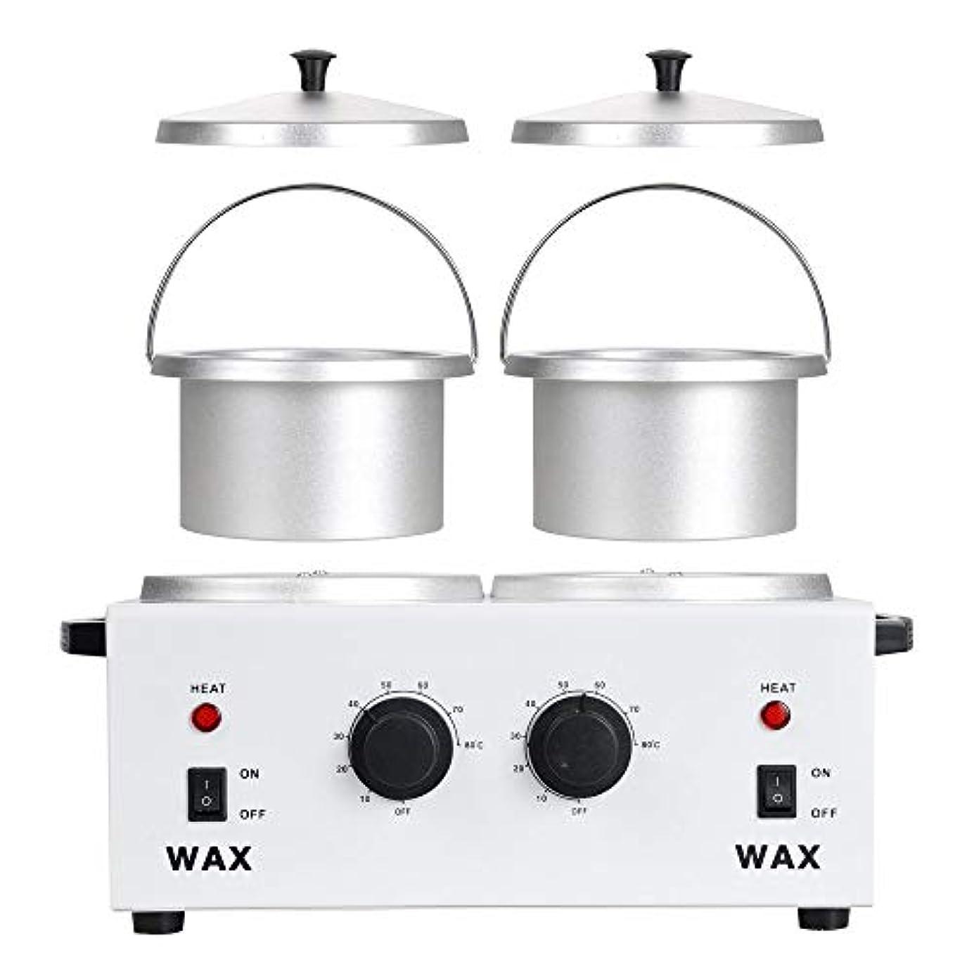 延期するしばしばシンポジウムワックスウォーマープロフェッショナル電気ヒーター、ワックスウォーマー美容機ダブル鍋専門サロン機器、ワックスウォーマー脱毛ワックスがけキット