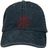 Hip hop Baseball caps Red Chaos Star Warhammer 40K Cap Dawn of War Game Cap Cosplay Print Gift for Geek Mens hat Women h