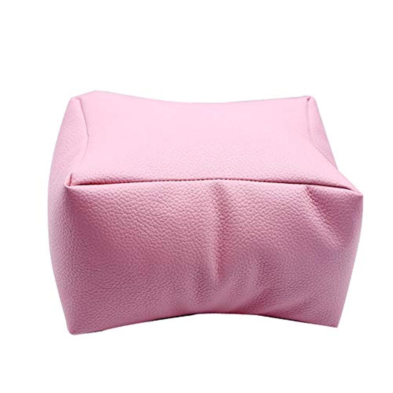 謎トラブル特派員MAYouth ネイルアートDIYマニキュアケアハンドアームレスト枕快適なPUレザー枕