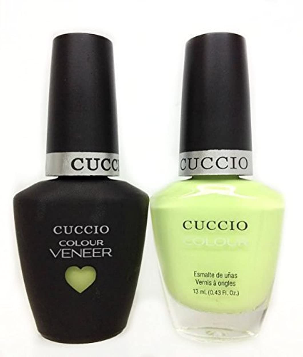 名誉プラットフォーム糸Cuccio MatchMakers Veneer & Lacquer - In the Key of Lime - 0.43oz / 13ml Each
