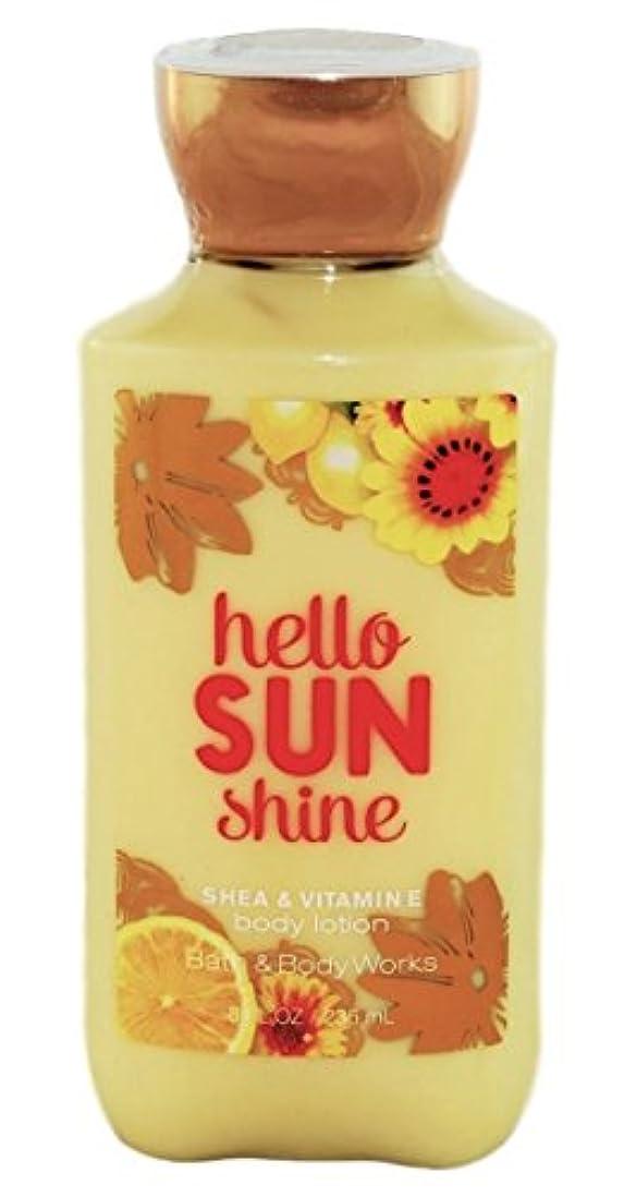 人物ハンディ地球Bath & Body Works hello SUN shine body lotion 236ml 並行輸入品