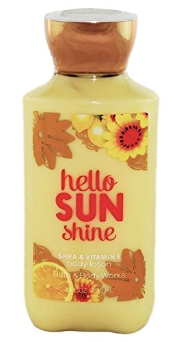 顔料コカインエンティティBath & Body Works hello SUN shine body lotion 236ml 並行輸入品