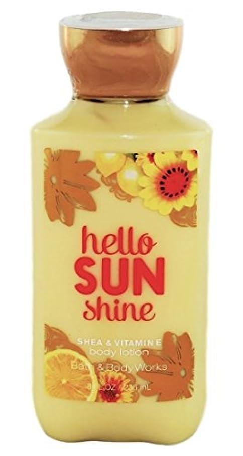 戦術上へ文房具Bath & Body Works hello SUN shine body lotion 236ml 並行輸入品