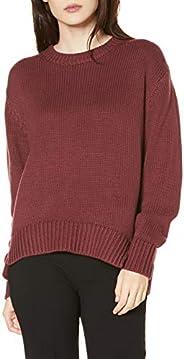 Daily Ritual (デイリー リチュアル) レディース コットン100% 厚手 長袖 クルー プルオーバー セーター