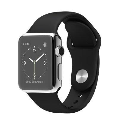 Apple Watch 38mm ステンレススチールケースと ブラックスポーツバンド MJ2Y2J/A