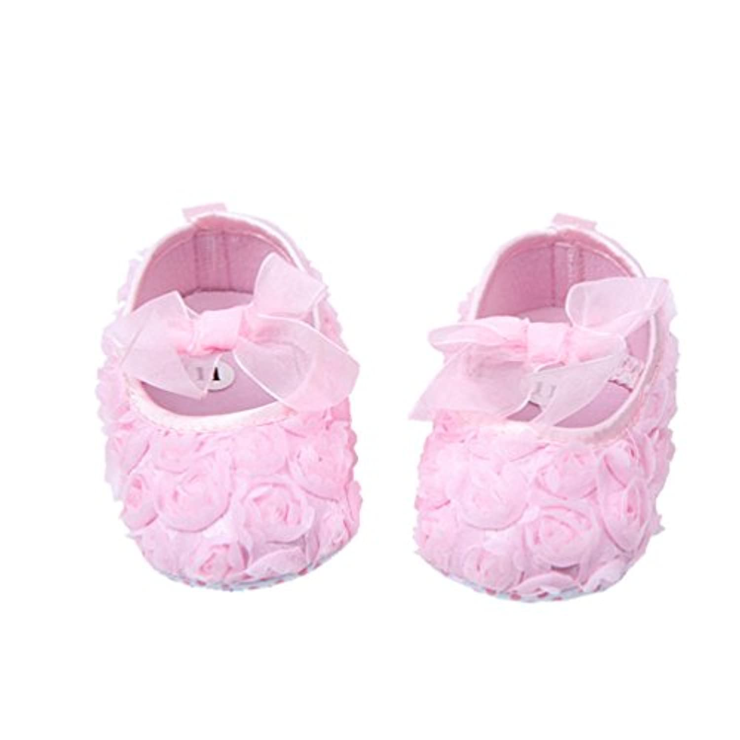 Zerowin Baby Toddler Warm Autumn Soft Crib Shoes, Rose Flower Pattern (6-12 Months) by Zerowin