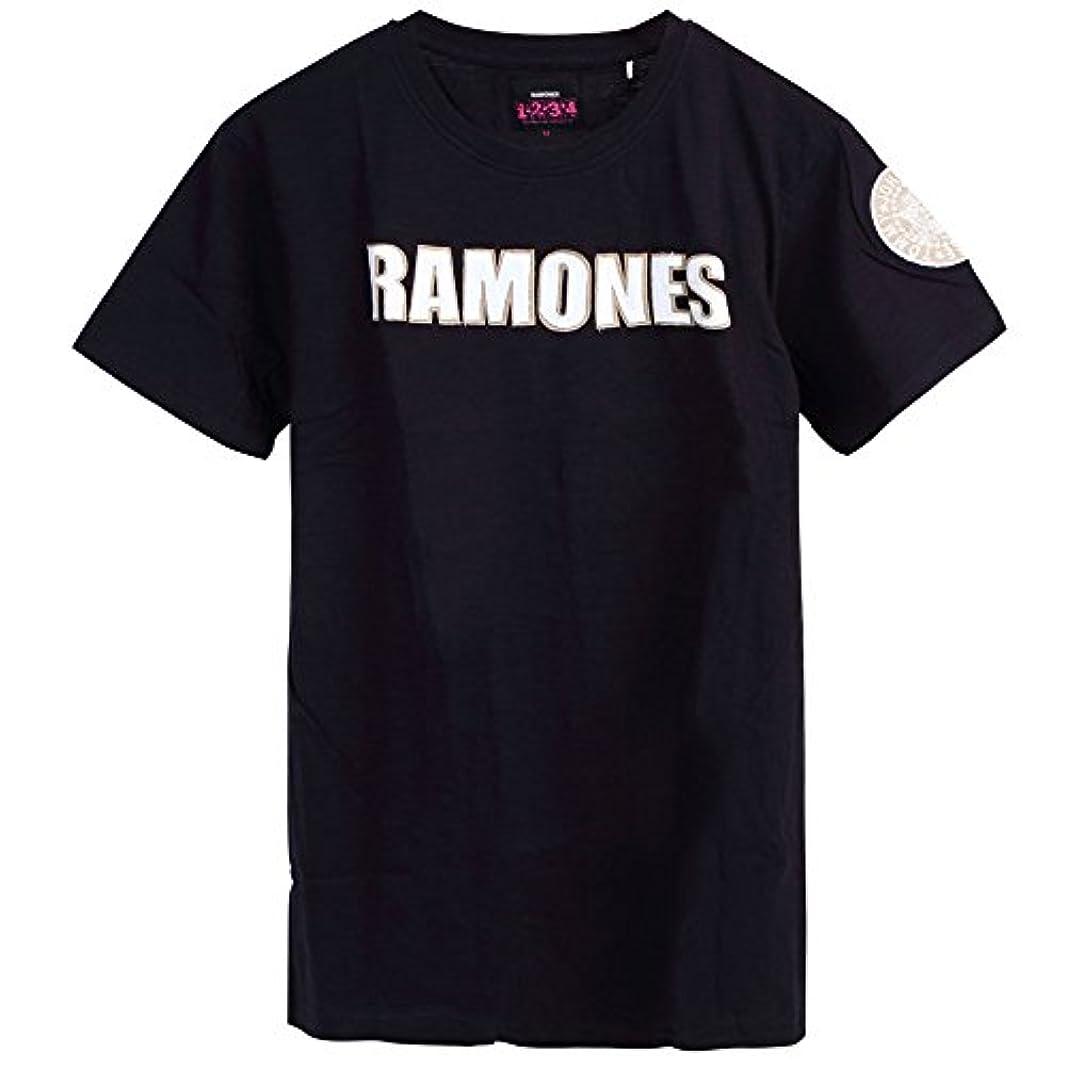 叱る具体的に句読点RAMONES ラモーンズ - LOGO & PRESIDENTIAL SEAL WITH APPLIQUE MOTIFS/Black Label(ブランド)/Tシャツ/メンズ 【公式/オフィシャル】