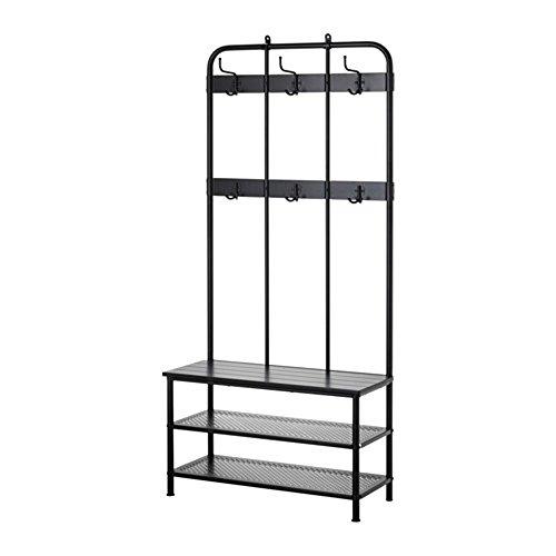 IKEA/イケア PINNIG コートラック 靴収納ベンチ付...
