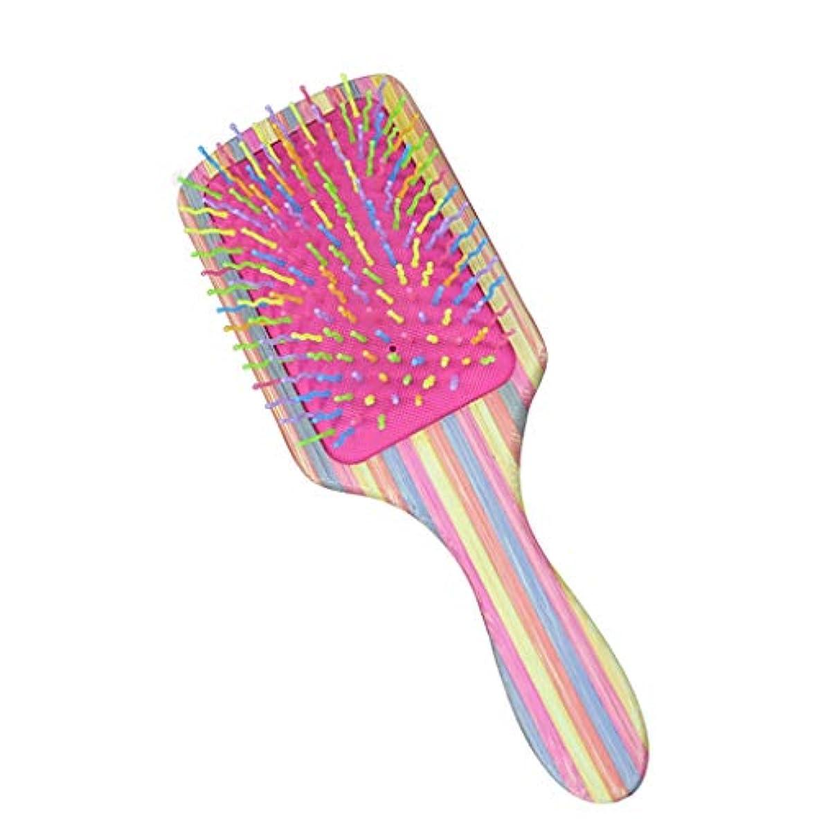 外出ホール成長くし児童エアバッグエアクッションコームマッサージヘッドメリディアンコームヘアコームヘアコームくしホームビッグくし (Color : Pink)