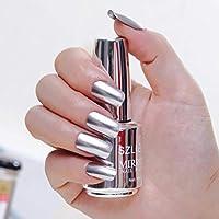 Mirror ThreeCat Metallic Nail Polish Magic Mirror Effect Chrome Nail Art Polish Varnish (L)
