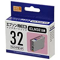 EPSON ICLM32(エプソンプリンター用互換インク) 汎用インクカートリッジ ライトマゼンタ PP-EIC32LM