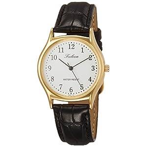 [シチズン キューアンドキュー]CITIZEN Q&Q 腕時計 Falcon ファルコン アナログ 革ベルト ホワイト QA64-104 メンズ