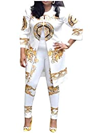 Kankanluck 女性オープンフロントブレザーワークOLパンツ特大の2ピース衣装
