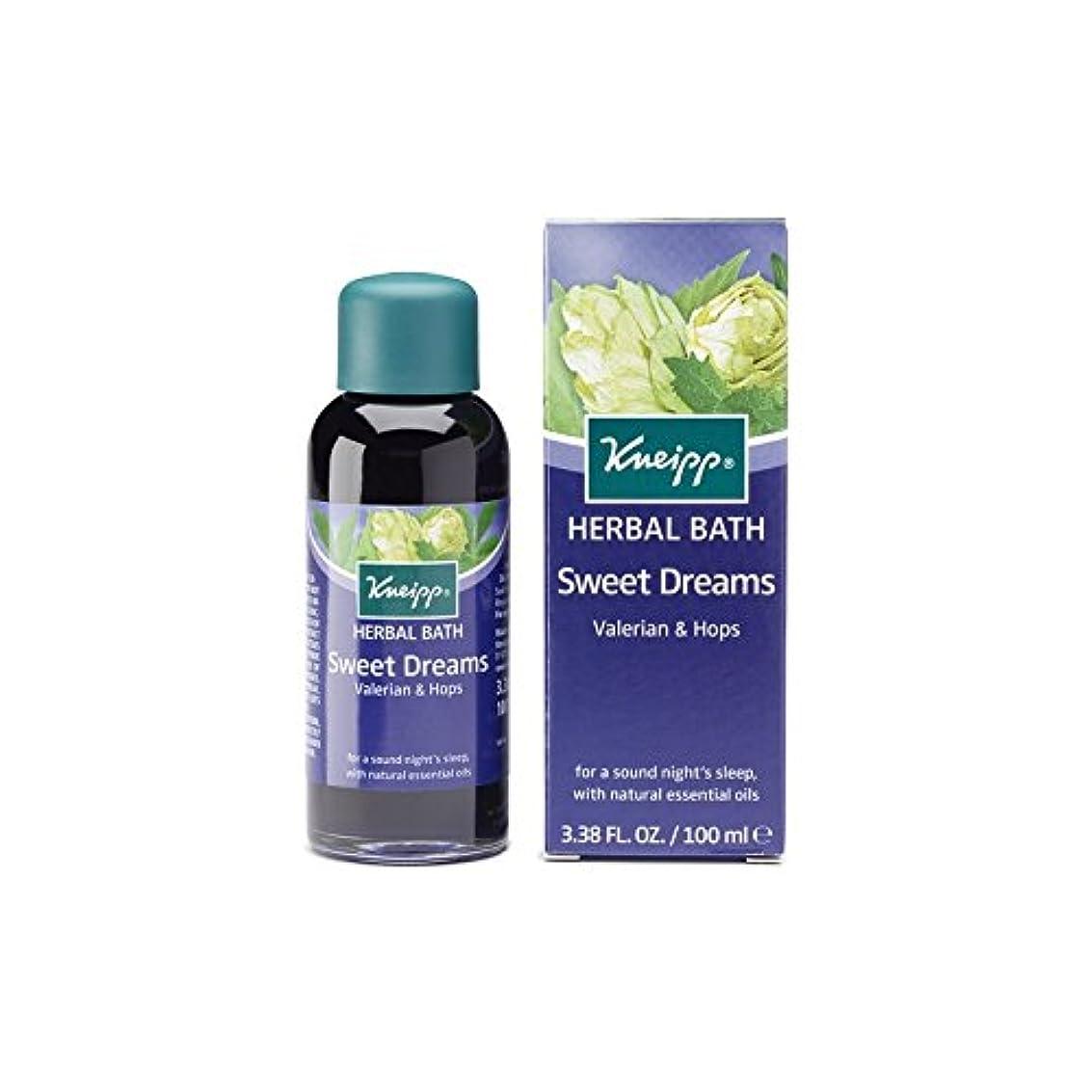頭ものコモランマクナイプ甘い夢ハーブカノコソウとバスオイル(100ミリリットル)をホップ x4 - Kneipp Sweet Dreams Herbal Valerian and Hops Bath Oil (100ml) (Pack...