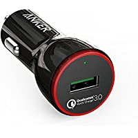 [Qualcomm Quick Charge 3.0] Anker PowerDrive+ 1 Premium Quick Charge 3.0 24W USB Car Charger A2210011