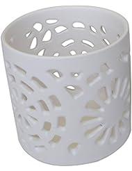 マルエス 陶器製 燭台 日輪 ホワイト