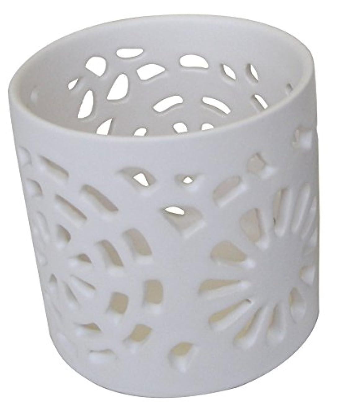韓国語統治する罹患率マルエス 陶器製 燭台 日輪 ホワイト