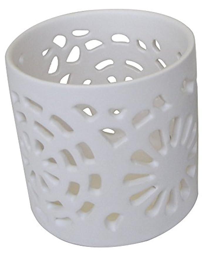 振り子お父さん思想マルエス 陶器製 燭台 日輪 ホワイト