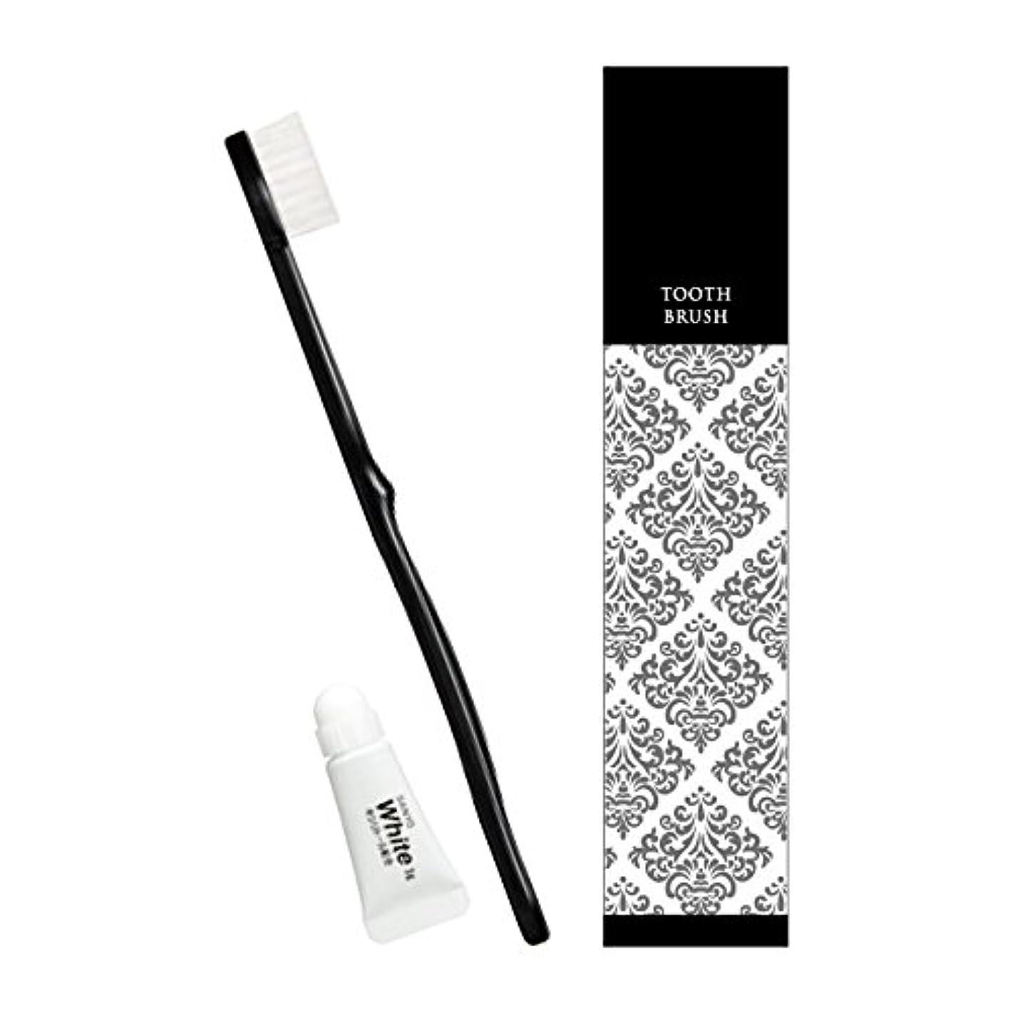 傘発見する効能あるピエンタ ホテル業務用ハブラシ(黒)28穴 3gチューブ付 250本
