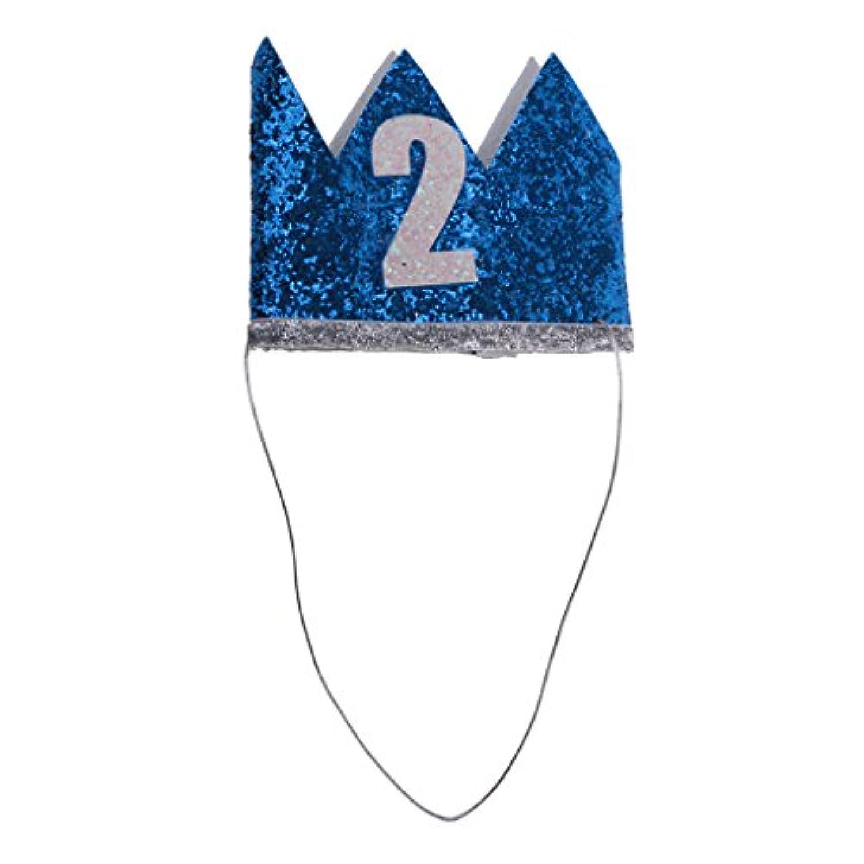 Lovoski パーティー 飾り ハッピーバースデー 王冠 ベビー 誕生日 記念日 撮影 子供 大人 かわいい 人気 飾り帽子 男女通用 3種類 - 2歳