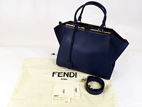 (フェンディ) FENDI 3JOURS トロワジュール バッグ ネイビー シルバー金具 29961204 [並行輸入品]
