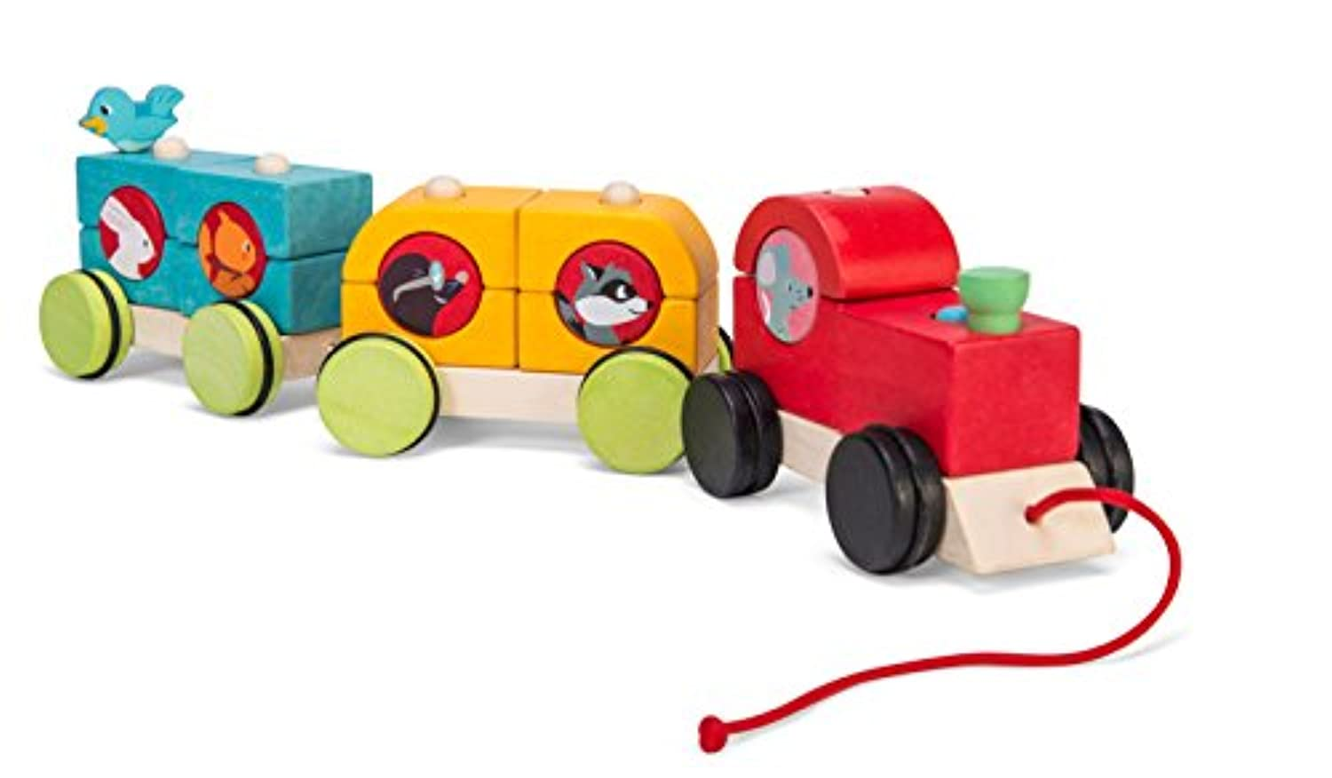 Le Toy Van Stacking TrainウッドランドExpress赤ちゃんおもちゃ