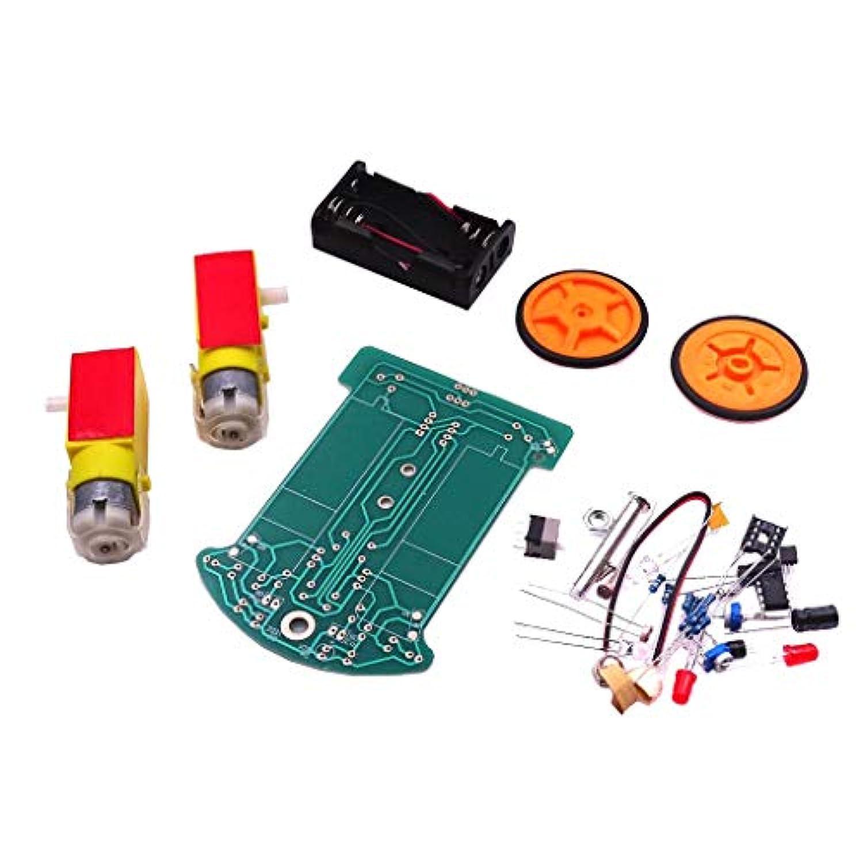perfk ロボットカー スマートトラッキングカー シャーシ 減速モータ DIYキット