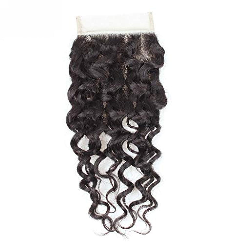 護衛復活させるちなみにWASAIO 閉鎖ボディグレード未精製ヴァージン髪を持つブラジルのウォーターウェーブレース人間ウィーブ (色 : 黒, サイズ : 12 inch)