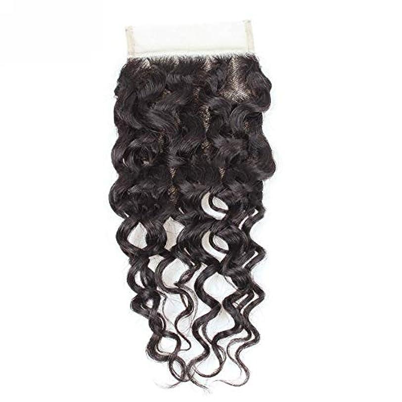 アルネ今まで他の場所WASAIO 閉鎖ボディグレード未精製ヴァージン髪を持つブラジルのウォーターウェーブレース人間ウィーブ (色 : 黒, サイズ : 12 inch)