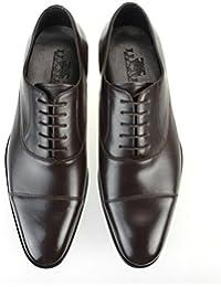 [ルシウス] LUCIUS 本革 ビジネスシューズ メンズ 革靴 内羽根 ストレートチップ レースアップ ロングノーズ ドレスシューズ レザー 日本製 紳士靴 【LLT77-4-CPZ】 ブラック ダークブラウン