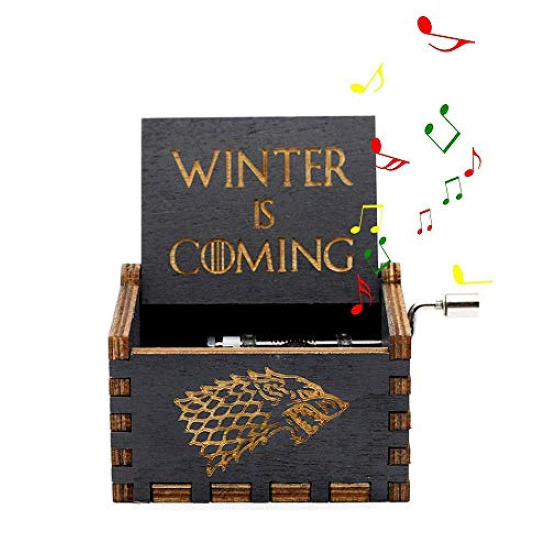 MOGOI 木製オルゴール、手回しの音楽再生 The Sweet of Song、メリークリスマステーマギフト(美しさと野獣、スターウォーズ、ゲーム?オブ?ライト、パイレーツ?オブ?カリビアン音楽ボックス) 6242340124471