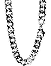新宿銀の蔵 カット 喜平チェーン 極太 長さ50~60cm (50cm) 幅8.3mm サージカルステンレス ネックレス チェーン ネックレスチェーン メンズ