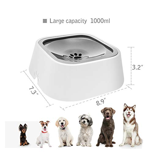SCIRIKKO Dog Water Bowl No-Splash Clever Pet Feeder for Vehicle Carried - Dogs Cats Pets