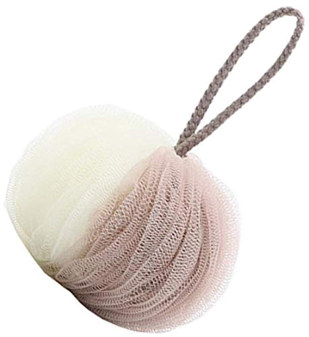 贅沢パドル守る花びらの形のバスボールメッシュブリスター厚いバステンフラワー(グリーン)