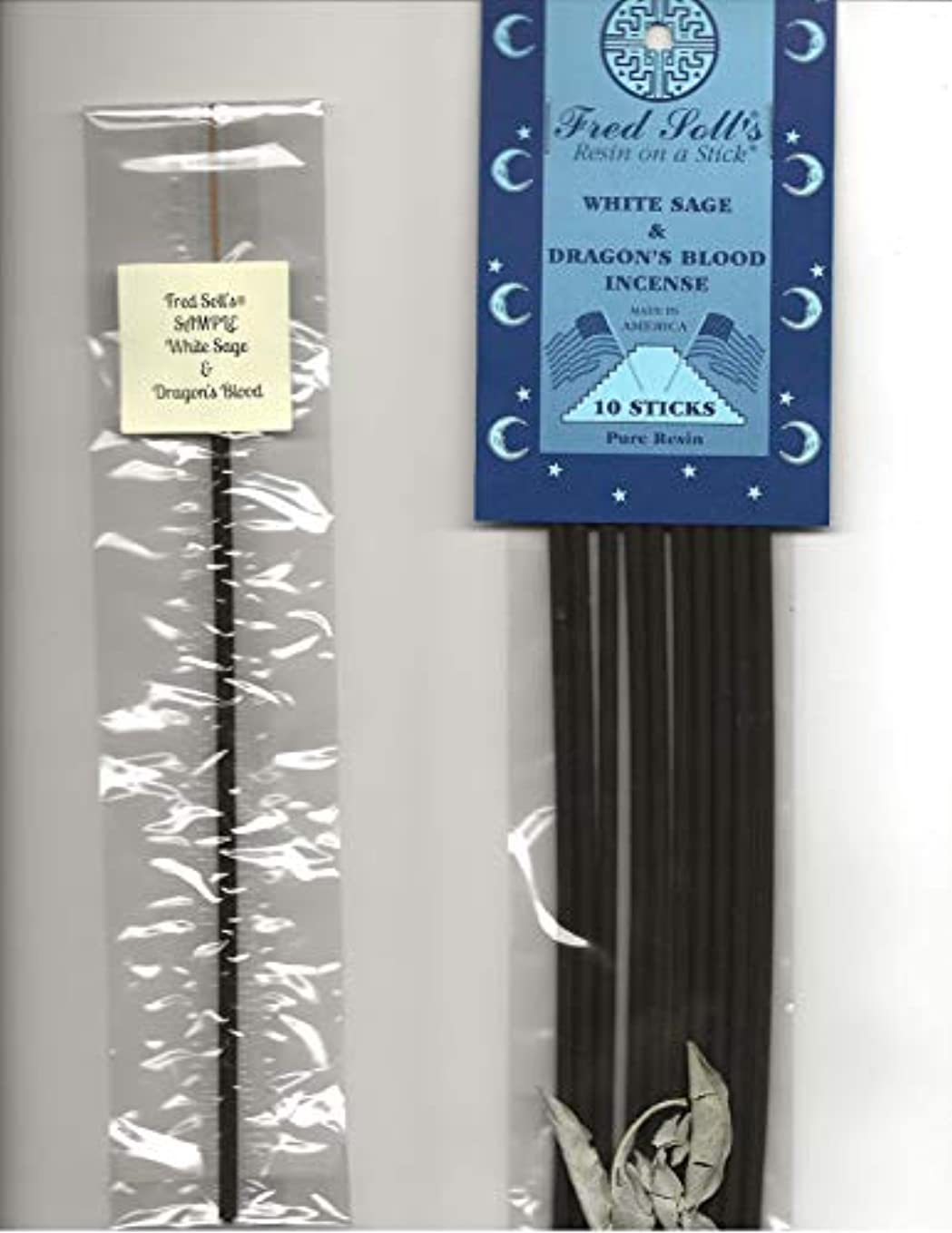 固執増強する首謀者FRED SOLL'S 樹脂製インクオンザスティックホワイトセージ&ドラゴンブラッドインセンス 1 STICK