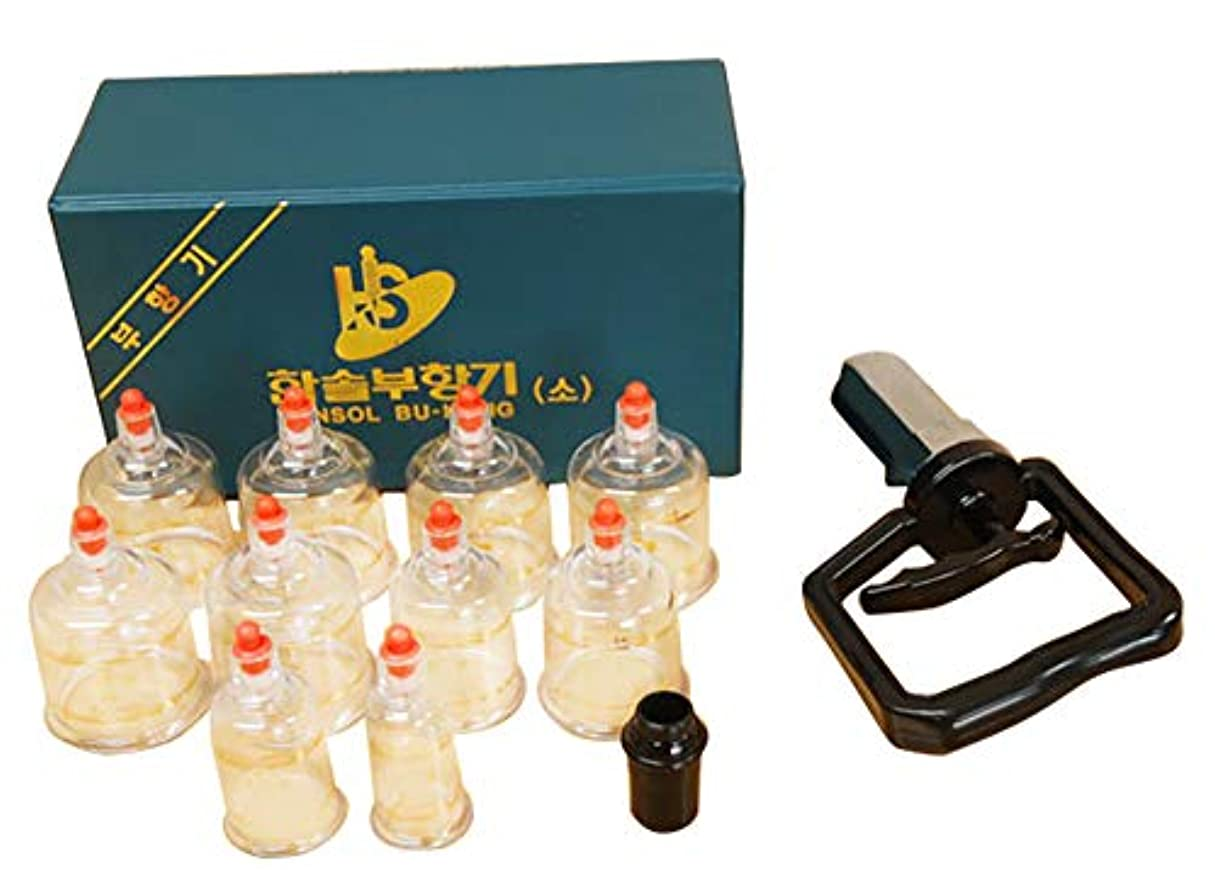 百年合理的繰り返した中国四千年の健康法「吸玉」がご家庭で手軽にできる!ハンソルメディカル ブハン カッピングカップ10個セット