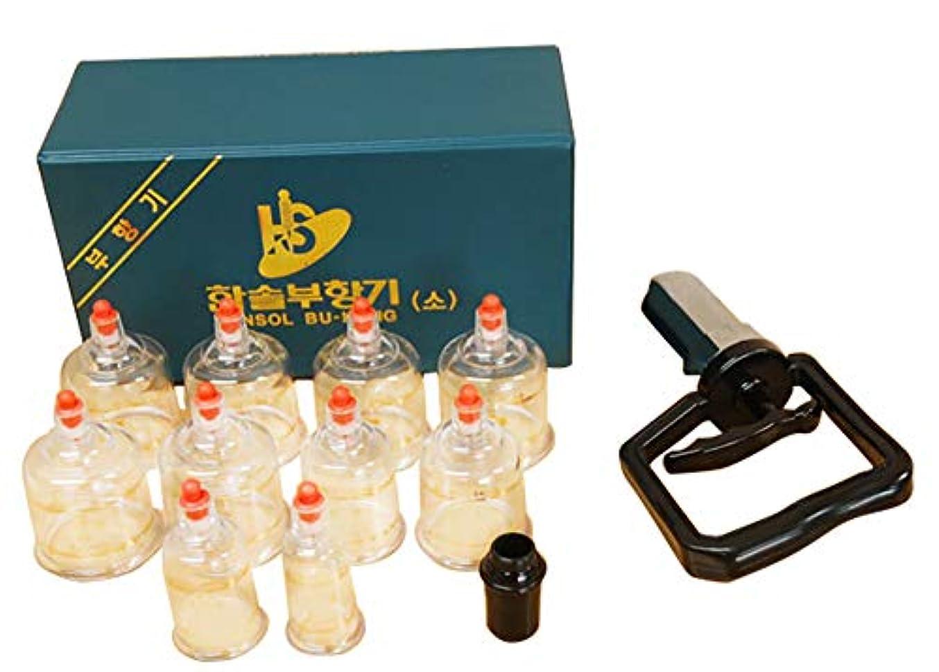 一握り連続したショッキング中国四千年の健康法「吸玉」がご家庭で手軽にできる!ハンソルメディカル ブハン カッピングカップ10個セット