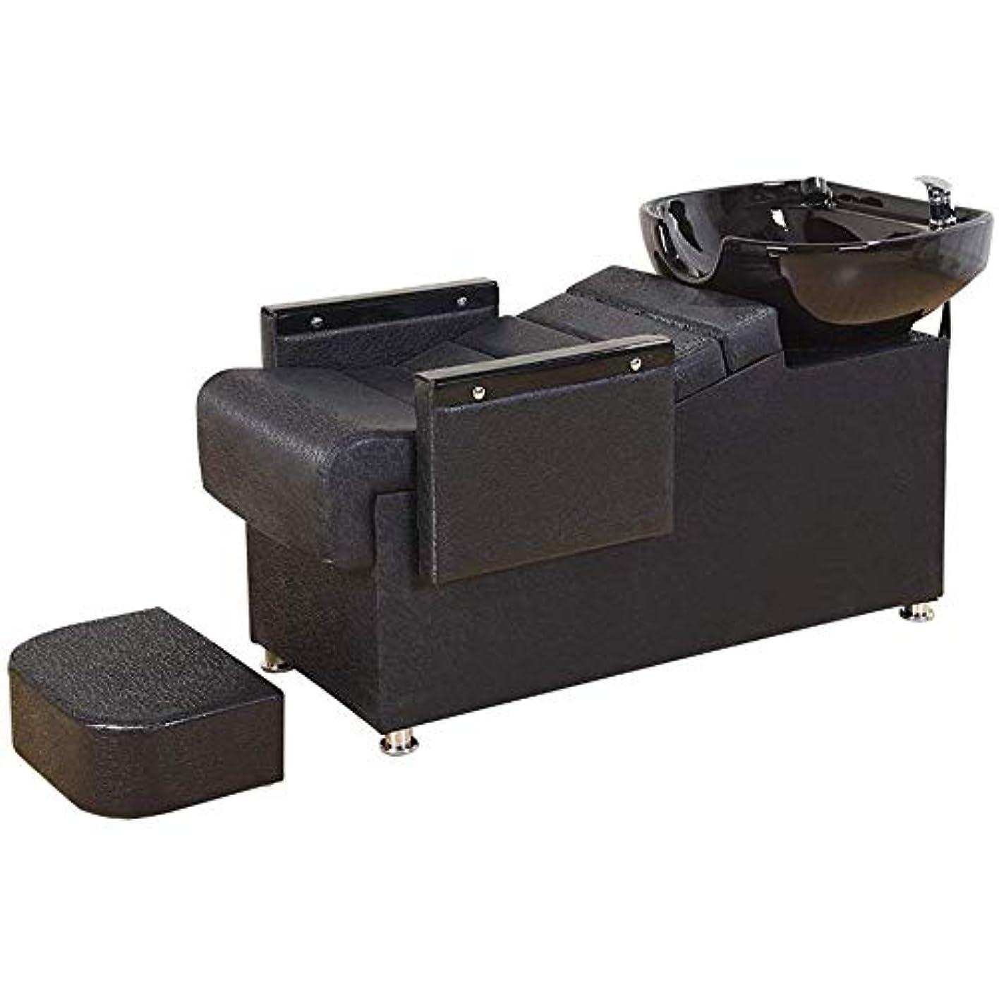 リーガン支出ストライプシャンプー椅子、逆洗ユニットシャンプーボウル理髪店理髪店シンクチェアスパ用美容院機器