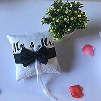 Kongqiabona Ribbon Bowknot Ring Pillow YMJZ-002 15 * 15cm Finger Ring Cushion Romantic Bridal Decorations Portable Party Supplies