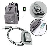 quaantiアウトドアサバイバルEDCマルチツールキャンプとハイキングブラックバックパック充電Cabl外部USB充電インタフェースアダプタ(ブラック) Quaanti