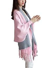 [ピースランド] おしゃれ ストール 袖付き ショール 冷房 対策 カーディガン コート ポンチョ フリンジ 付き 大判 レディース