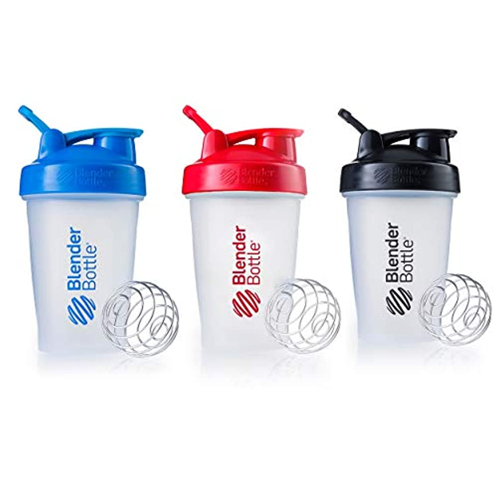 王位に頼るコントロールBlender Bottle with Shaker Ball 20 Oz, (Blue, Red, Black) by Blender Bottle