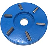 90MM Flat Teeth Woodworking Turbo Tea Tray Milling Cutter Digging Wooden Material Carving Tool for 16MM Angle Grinder
